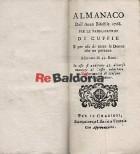 Almanacco dell'anno bisestile 1768 per le fabbricatrici di cuffie e per uso di tutte le donne che ne portano