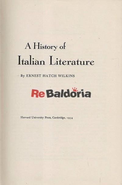 A history of Italiana Literature