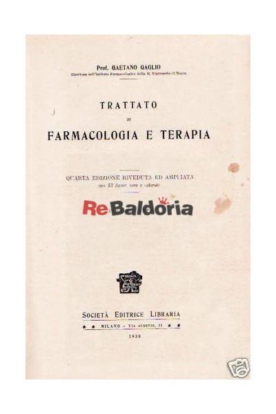 Trattato di farmacologia e terapia