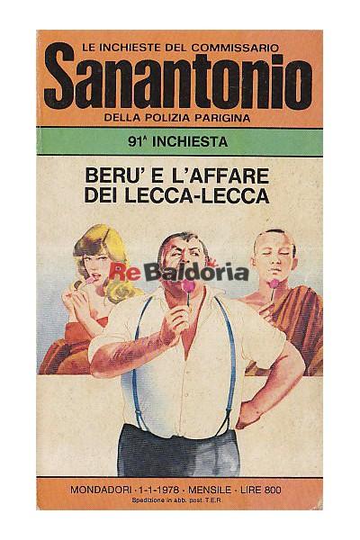Le inchieste del commissario Sanantonio della polizia parigina - Beru' e l'affare dei lecca-lecca (Sucette Boulevard)