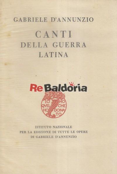 Canti della guerra latina