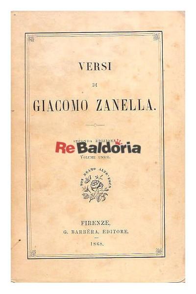 Versi di Giacomo Zanella