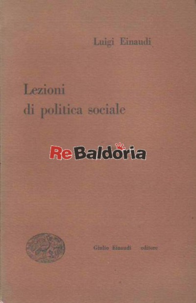 Lezioni di politica sociale