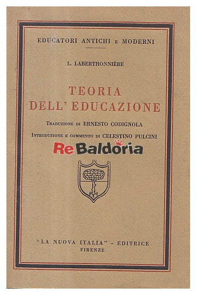 Teoria Dell' Educazione