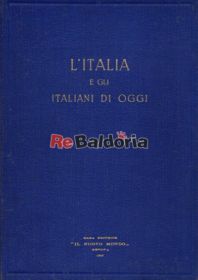 L'Italia e gli italiani di oggi