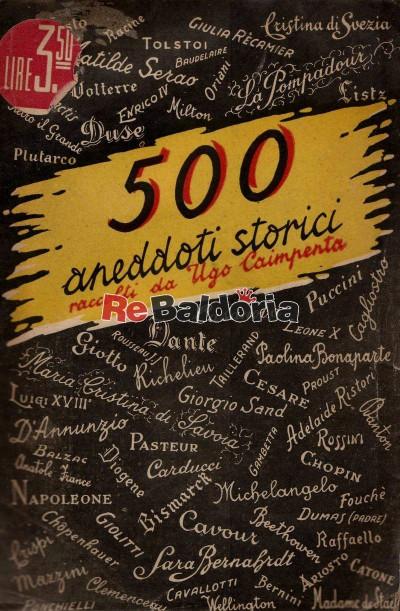 500 aneddoti storici