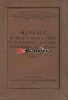 Manuale di tecnica delle autopsie e diagnostica anatomopatologica veterinaria