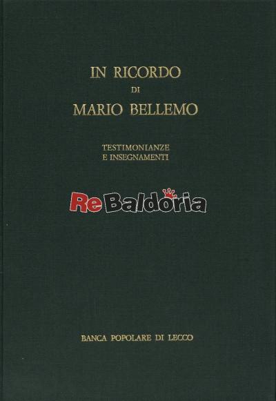In ricordo di Mario Bellemo