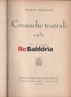 Cronache teatrali 1931