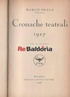 Cronache teatrali 1927