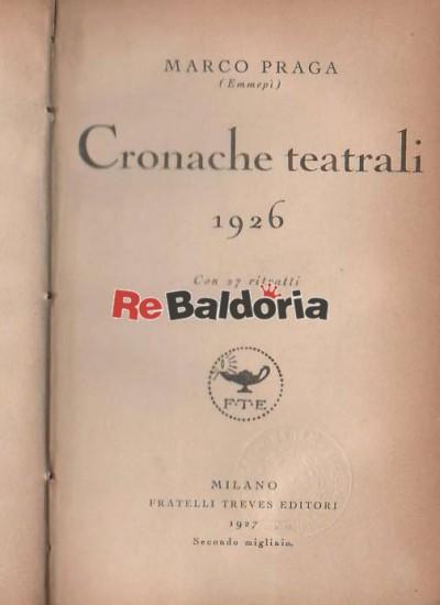 Cronache teatrali 1926