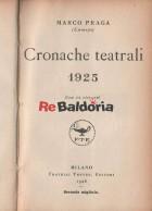 Cronache teatrali 1925