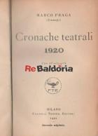 Cronache teatrali 1920