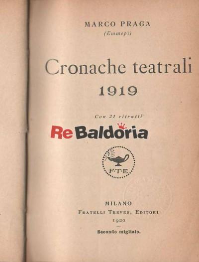 Cronache teatrali 1919