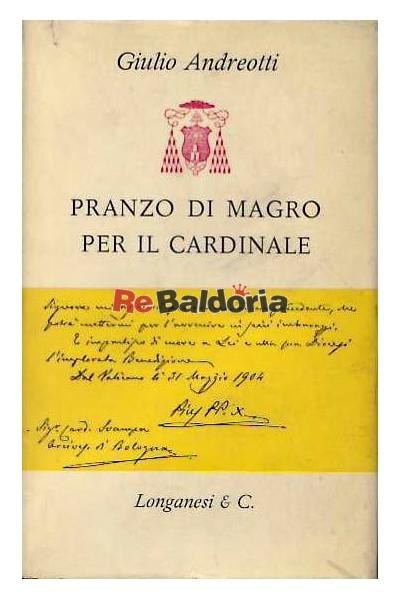 Pranzo di magro per il Cardinale - Giulio Andreotti - Longanesi ...