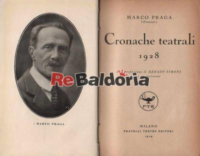 Cronache teatrali 1928
