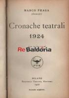 Cronache teatrali 1924