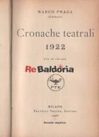 Cronache teatrali 1922
