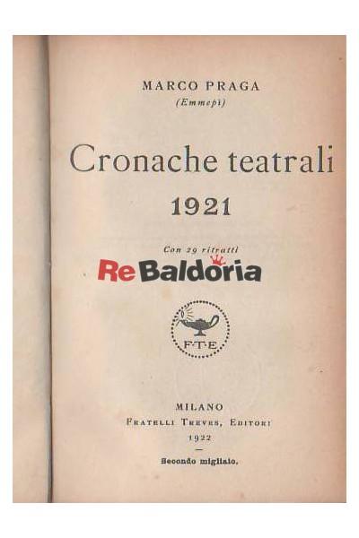 Cronache teatrali 1921
