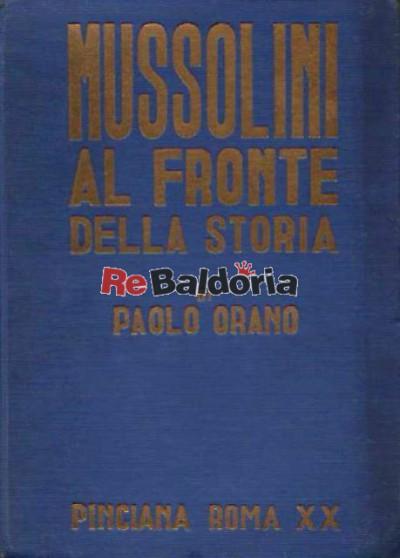 Mussolini al fronte della storia