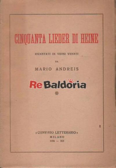 Cinquanta lieder di Heine