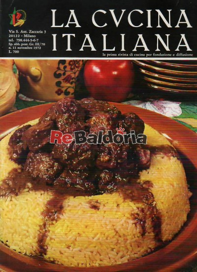 La cucina italiana 11 - Novembre 1972