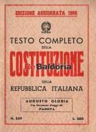 Testo completo della costituzione della Repubblica Italiana