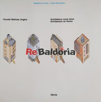 Architettura come tema - Architecture as theme