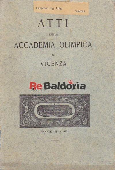 Atti della Accademia Olimpica di Vicenza