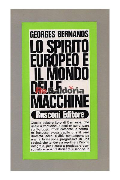 Lo spirito europeo e il mondo delle macchine