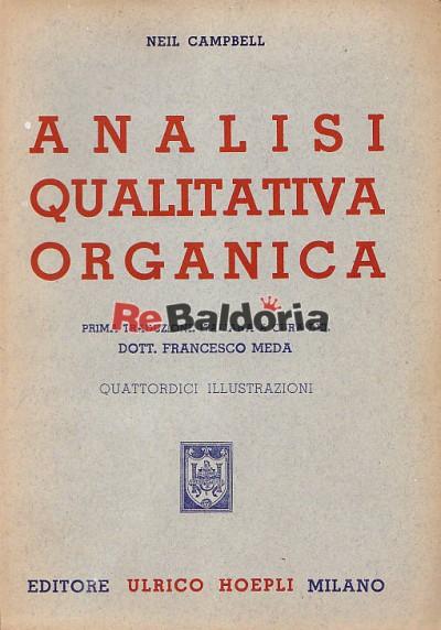 Analisi qualitativa organica