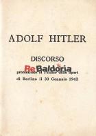 Discorso pronunciato al Palazzo dello Sport di Berlino il 30 Gennaio 1942