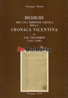 Ricerche per una edizione critica della cronaca vicentina